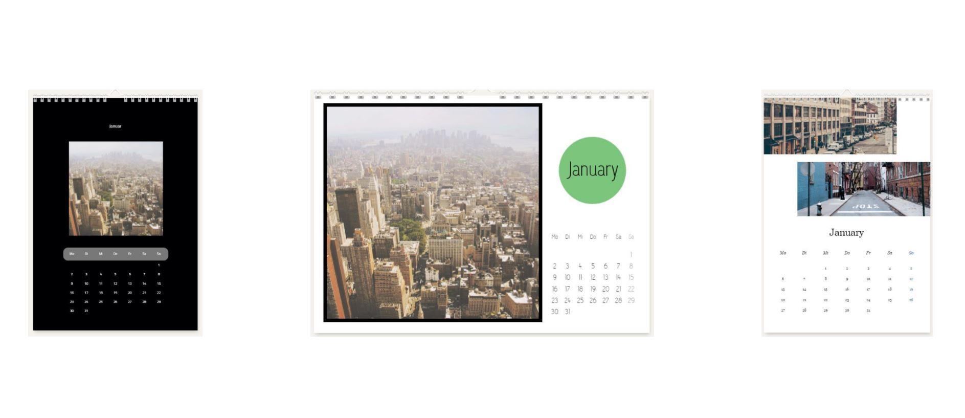 foto kalender whitewall formen und text